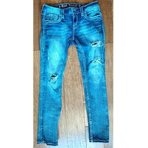 Rock Revival Taye Distressed Jeans